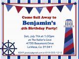 Nautical Birthday Invitations Free Nautical Birthday Invitation Best Party Ideas