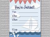 Nautical Birthday Invitations Free Nautical Birthday Invitations Ideas Bagvania Free