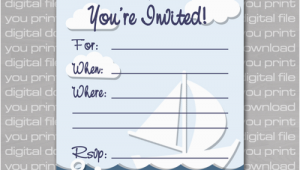 Nautical Birthday Invitations Free Nautical Birthday Invitations Ideas Bagvania Free