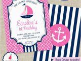 Nautical Birthday Invitations Free Nautical Party Invitation Girls Nautical Birthday Invitation