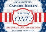 Nautical Birthday Invites Nautical First Birthday Invitation