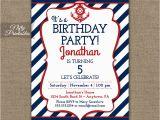 Nautical Birthday Invites Red White Blue Nautical Birthday Invitations Nifty