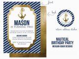 Nautical Birthday Invites Ships Ahoy A Boys Nautical Party B Lovely events