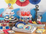 Nautical First Birthday Decorations Ahoy Nautical 1st Birthday Party Supplies Party City