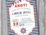 Nautical theme Birthday Invitations Nautical Birthday Invitation Nautical Invitation Nautical
