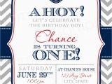 Nautical theme Birthday Invitations Nautical Birthday Invitation Templates