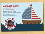 Nautical theme Birthday Invitations Nautical Birthday Invitation with Photo by thepaperplume