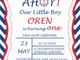 Nautical theme Birthday Invitations Nautical Birthday Party Invitations Cimvitation