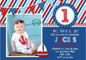Nautical themed First Birthday Invitations 5 Nautical Birthday Invitations for Your Inspiration