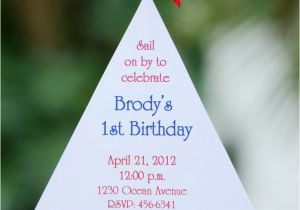 Nautical themed First Birthday Invitations Best 25 Nautical Birthday Invitations Ideas On Pinterest