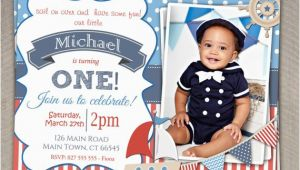 Nautical themed First Birthday Invitations Boys Nautical theme 1st Birthday by Invitationsbylittlep