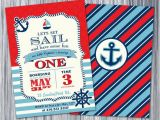 Nautical themed First Birthday Invitations Nautical 1st Birthday Invitation Nautical Invite Printable