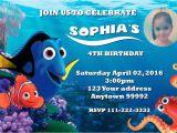 Nemo Birthday Party Invitations Finding Dory Nemo Birthday Party Invitations Personalized