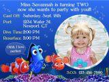 Nemo Birthday Party Invitations Finding Nemo Birthday Invitation Custom Design by