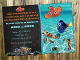 Nemo Birthday Party Invitations Free Printable Finding Dory Invitations Ideas Free