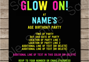 Neon Colored Birthday Invitations 80 39 S Adult Birthday Party