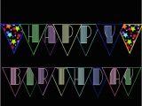 Neon Happy Birthday Banner Neon Glow Black Light Happy Birthday Banner by topsandbottles