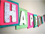 Neon Happy Birthday Banner Neon Happy Birthday Banner Made From Recycled by Audrianapaper