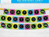 Neon Happy Birthday Banner totally 80s theme Happy Birthday Party Banner Neon Green