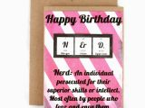Nerd Birthday Cards Funny Birthday Card Chemistry Nerd Geek Periodic Table