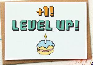 Nerd Birthday Cards Funny Card Level Up Gamer