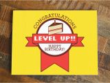 Nerd Birthday Cards Gamer Birthday Card Level Up Funny Birthday Nerdy Birthday