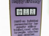Nerd Birthday Cards Items Similar to Nerd Birthday Card Purple Girl On Etsy