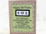 Nerd Birthday Cards Science Nerd Birthday Card Greeting Card Paper Goods