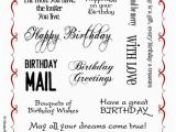 Nice Words for A Birthday Card Birthday Words Rubber Stamp Sheet A5 Chocolate Baroque