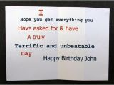Nice Words for A Birthday Card Funny Fold Out Birthday Card Rude Card Pops Up with Nice