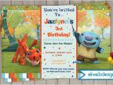 Nick Jr Birthday Invitations Wallykazam Birthday Invitation Custom Invitations Nick Jr
