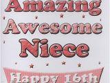 Niece 16th Birthday Card Female Relation Birthday Cards to My Super Amazing