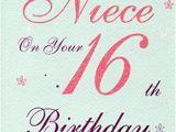 Niece 16th Birthday Card for A Special Niece 16 today Birthday Card 16th Birthday