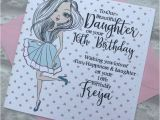 Niece 16th Birthday Card Personalised Daughter Granddaugther Niece Birthday Card