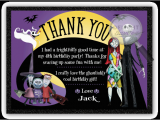 Nightmare before Christmas Birthday Card Nightmare before Christmas Thank You Cards Di 346ty