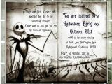 Nightmare before Christmas Birthday Invitation Template Birthday Invitation Templates Nightmare before Christmas