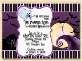 Nightmare before Christmas Birthday Invitation Template Jack Skellington Invitation Nightmare before Christmas