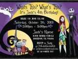 Nightmare before Christmas Birthday Invitation Template Nightmare before Christmas Birthday Invitations