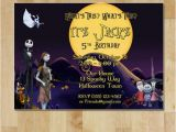 Nightmare before Christmas Birthday Invitation Template the Nightmare before Christmas Birthday Party Invitation
