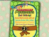 Ninja Turtle Birthday Invite Personalize Teenage Mutant Ninja Turtles Tmnt Photo