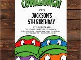 Ninja Turtle Birthday Invite Teenage Mutant Ninja Turtle Invitation Printable
