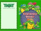 Ninja Turtle Birthday Invite Teenage Mutant Ninja Turtles Another Great Idea for A