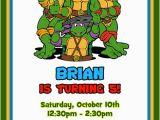 Ninja Turtle Birthday Invite Teenage Mutant Ninja Turtles Birthday Invitations Tmnt