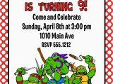 Ninja Turtle Birthday Invite Teenage Mutant Ninja Turtles Birthday Party Invitation
