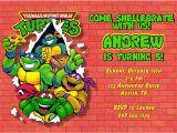 Ninja Turtle Birthday Invite Teenage Mutant Ninja Turtles Birthday Party Invitations