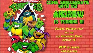 Ninja Turtle Birthday Invite Teenage Mutant Ninja Turtles Birthday Party Invitations