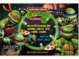 Ninja Turtle Birthday Invite Tmnt Teenage Mutant Ninja Turtles Invitation Printable