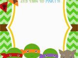 Ninja Turtle Birthday Invites Free Printable Ninja Turtle Birthday Party Invitations
