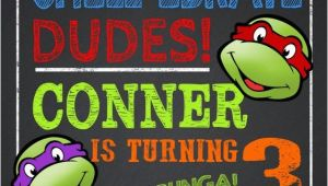 Ninja Turtle Birthday Invites Party Invitation Templates Ninja Turtle Party Invitations