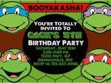 Ninja Turtle Birthday Invites Teenage Mutant Ninja Turtles Birthday Invitations Template